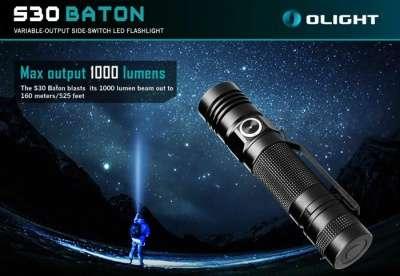 Фирменный фонарь Olight S30 Baton Olight S30 Baton