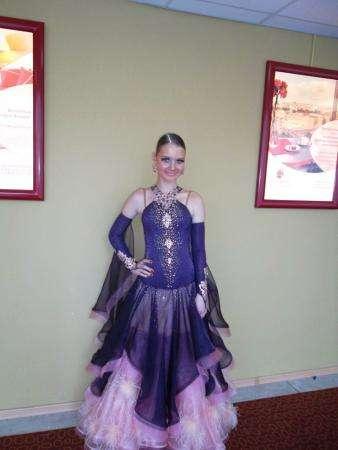 Шикарное платье для бально-спортивных танцев, St