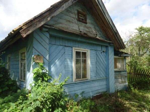дом в д.Хотяжа Волотовский район. Дом деревянный обшит вагонкой, площадь 30 кв. м.