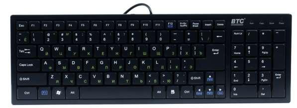 Клавиатура тонкая и компактная с большим ресурсом