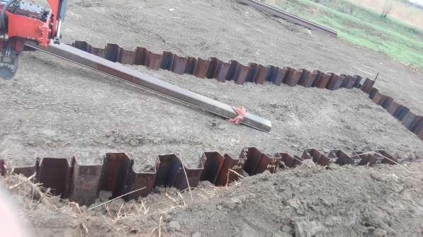 Вибропогружение шпунта при креплении котлованов и траншей в Сургуте фото 4