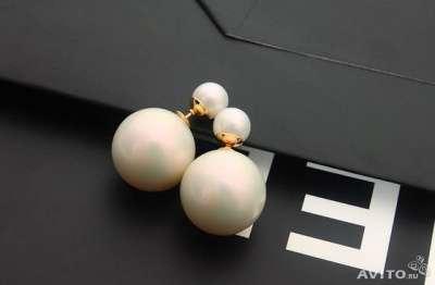пусеты (как у Dior) жемчужные