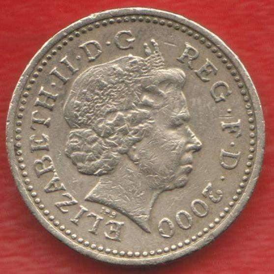 Великобритания Англия 1 фунт 2000 Уэльский дракон Елизавета в Орле
