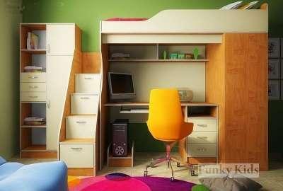 ФК 11 СВ кровать-чердак со столом, цвет
