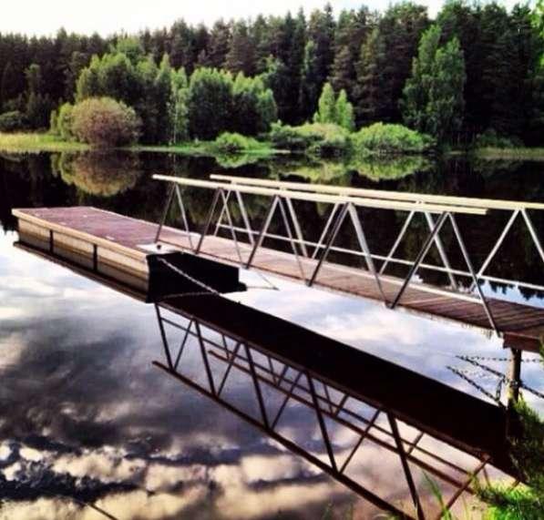 Продажа плавающих причалов на бетонных поплавках