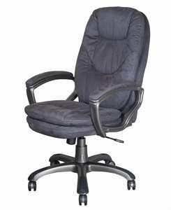 868 кресло велюр серый