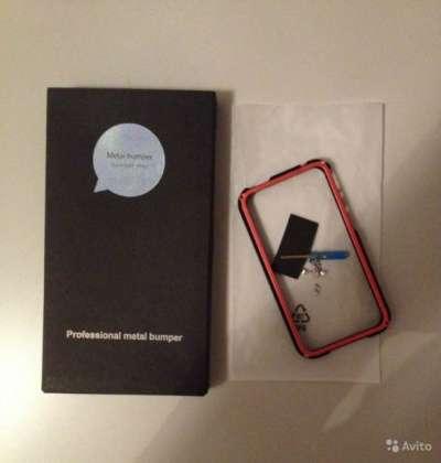 Алюминиевый бампер на айфон 4s