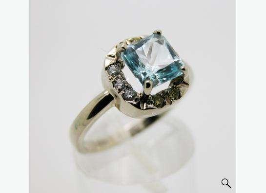 Золотое кольцо с принцессой Топаза и бриллиантами. в Москве фото 6