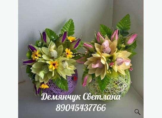 Конфетные букеты ручной работы, торты из памперсов в Екатеринбурге