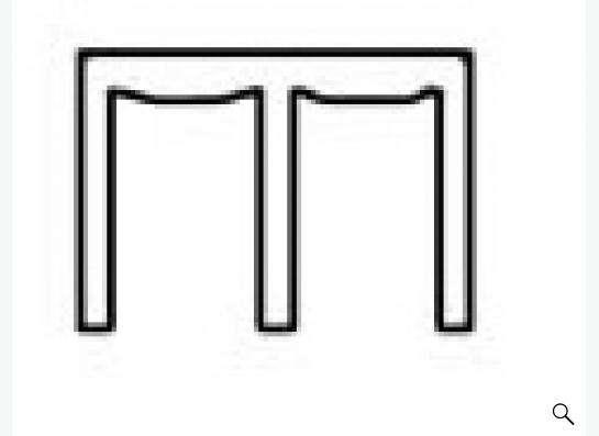 Верхний профиль Анодированный Матовый Хром