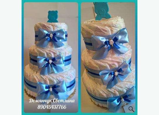 Конфетные букеты ручной работы, торты из памперсов в Екатеринбурге фото 8