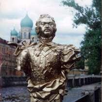 Бюст Петра 1, копия, гипс, в Санкт-Петербурге