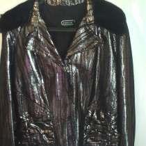 Новая куртка из кожи с норкой, в Санкт-Петербурге
