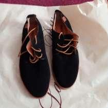 Туфли замшевые, черного цвета, новые, размер 41, в Новосибирске