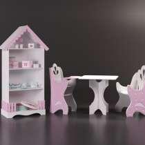 Шкаф детский, столик и стульчики для ребёнка и куклы, в Москве