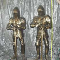 Скульптуры рыцарей из металла, в Краснодаре