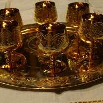 Питейный набор из подноса и шести рюмок (Златоуст, НОВОЕ), в Москве