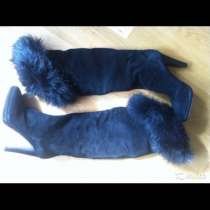 Ботфорты сапоги новые Ferre Италия размер 39 замша зима чёрн, в Москве