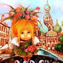 """Картина по номерам """"Солнечный ангел города"""" 40х50, в Омске"""