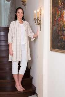Туника женская 100% лен вышивка марки LOOK, в Владивостоке