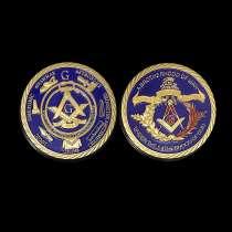 Масонская монета с бархатным мешочком, в Перми