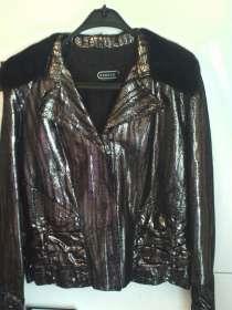 Шикарная новая куртка из кожи с норкой, в Санкт-Петербурге