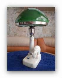 Лампа наст. 1950-х из мрамора. и др., в Иванове