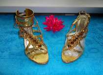 Обувь Золушки босоножки в стразах Сваровски, в Санкт-Петербурге
