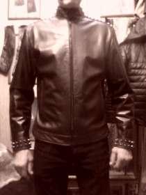 Куртку кожаную мужскую с тупыми шипами, новую, в Барнауле