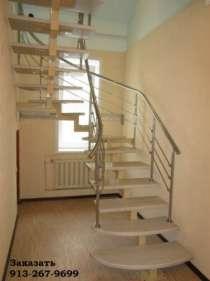 Металлическая интерьерная лестница, в Барнауле