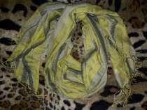 Шарф зеленый полосатый, в г.Кривой Рог