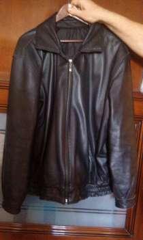 Куртка кожаная черная. Б/У размер 54-56, в Москве