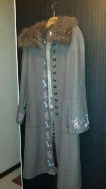 Женское осеннее пальто с воротником из козы, в г.Павлодар