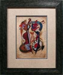 Картина «Около полуночи», ручная работа, вышивка, в г.Минск
