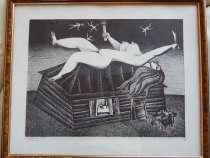 Картина «Ночь» 39x51,5 автолитография,1976 Кулинич А, в Москве