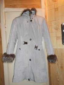 Зимнее пальто на натуральном меху серое Пуховик, в г.Запорожье