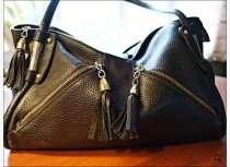 Продам черную кожаную сумку фирмы Терган , в Екатеринбурге