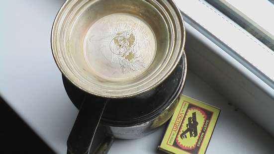 Кубок кружка подарочная, дарственная надпись. мельхиор в Саратове Фото 3