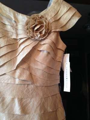 Новое платье романтического стиля, цвет голд, цена договорна