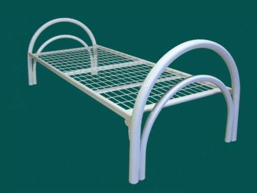 Кровати металлические двухьярусная, для больниц, металлические кровати с ДСП спинками, кровати для бытовок, кровати оптом, От производителя.