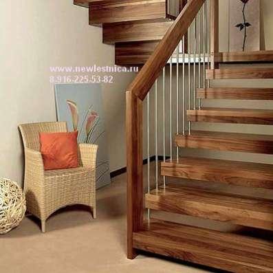 Красивые лестницы для квартиры и дачи из массива. Егорьевск