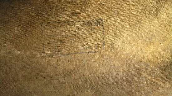 Вещмешок заплечный армейский брезентовый немецкий хаки штамп