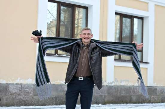 Мужской длинный шарф в стиле casual (кэжуал)