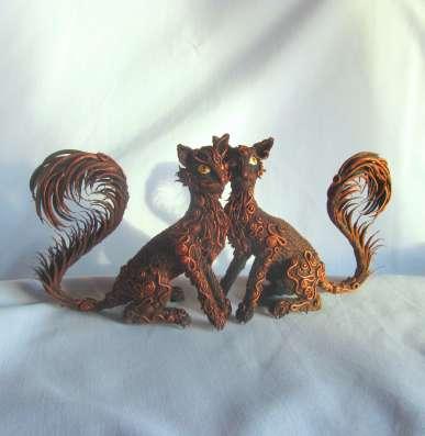 Кошки из полимерной глины в Сургуте Фото 1