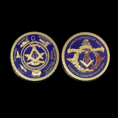 Масонская монета с бархатным мешочком