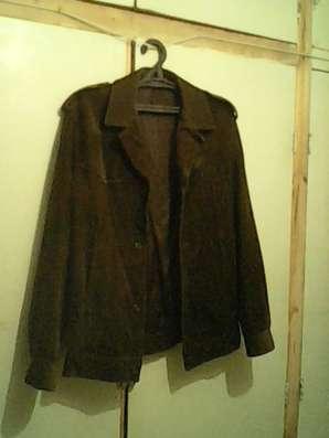 Куртка лето-осень муж., замша тёмно-коричневая, раз.44-46/2