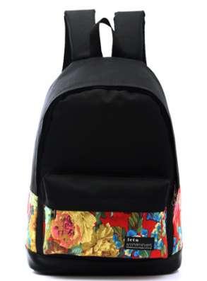 Рюкзак городской с цветным орнаментом
