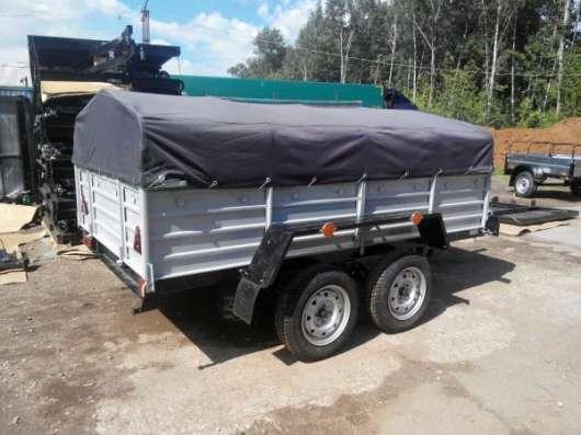 Двухосный прицеп для легкового автомобиля 2760х1560 с тентом и дугами в Москве Фото 1