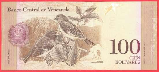 Венесуэла 100 боливаров 2012 г