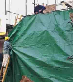 Промышленные тенты, полога для стройки, укрывные строительные тенты